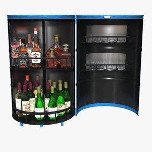 3D bar barrel garage model