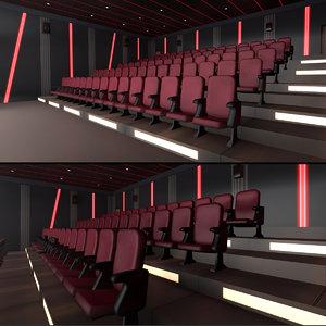 3D modern halls pack 01 model
