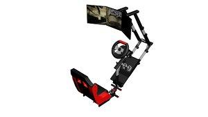 3D model gaming chair racing displays