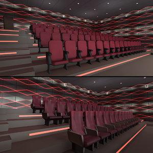 modern halls pack 02 3D model