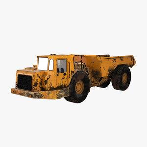 3D mining underground truck model