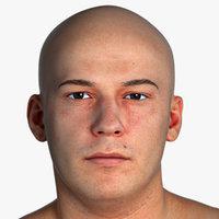 PBR Marcus Real Human Head Natural Pose