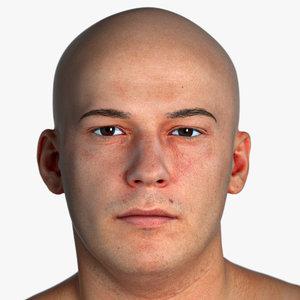 marcus pbr real human head 3D model