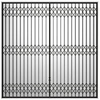Metal extensible delial sliding grille accordion type Screen
