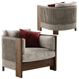 porto armchair 3D model