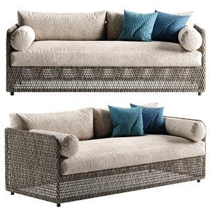 3D model coastal sofa