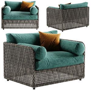3D coastal armchair