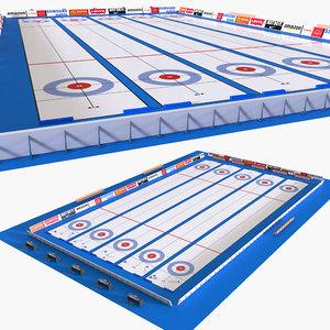 curling rink 3D model