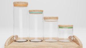 3D kitchen jars