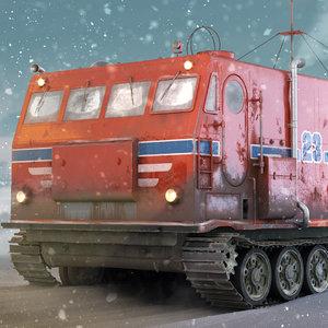 kharkovchanka arctic vehicle 3D model