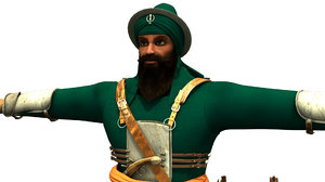singh bahadur warrior 3D model
