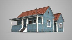 3D model modern buildings pointed