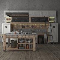 Old wooden kitchen