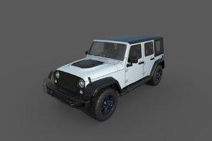 car: jeep wrangler rubicon 3D