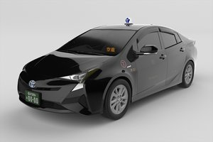 3D model japanese taxi