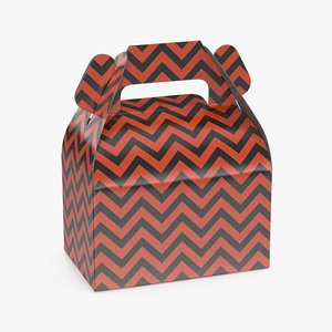 halloween chevron treat gift box model