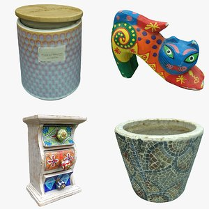 3D model decoration pot