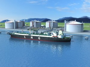 3D lng port ship model