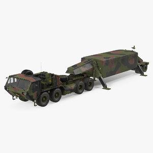 camo m983 tractor thaad 3D model