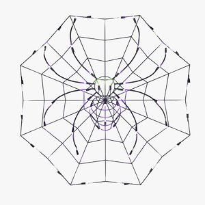 3D model led spider web lights