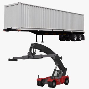 3D container trailer stacker