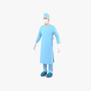 3D surgeon doctor model