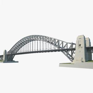 sydney harbour bridge 3D