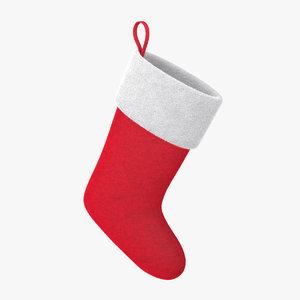 christmas sock fur model