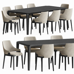 dining set 84 chair 3D model