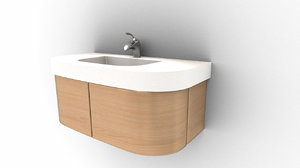 3D modern wash basin model