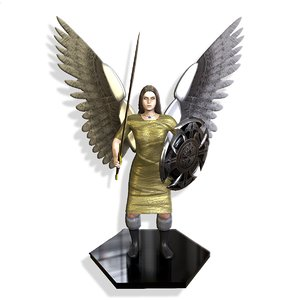 angel knight 3D model