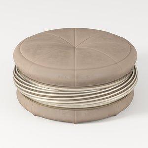 elegant lounge pouf 3D model