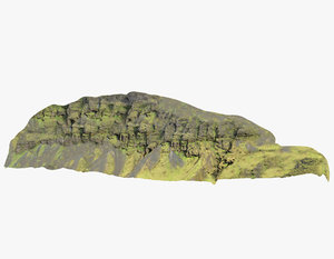 3D mountain iceland model