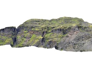 3D mountain iceland