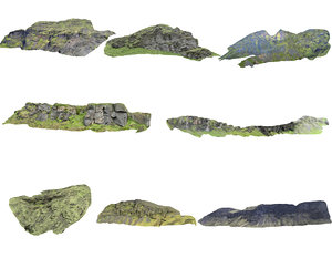 mountains iceland pack 3D