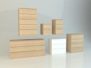 malm series ikea 3D