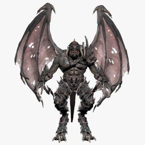 3D monster creature model