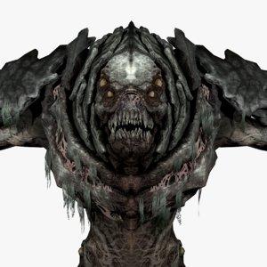 3D monster creature leviathan model