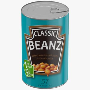 canned bean 3D