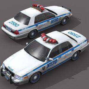 3ds max car wheel police