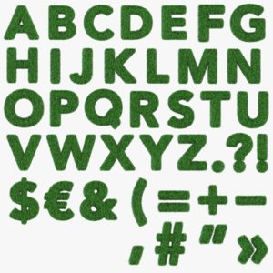 3D grass alphabet model