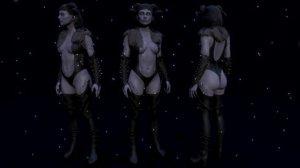 female woman character 3D model
