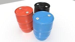 3D model industrial 1 barrels