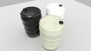 industrial barrels 3D model