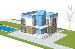 3D model house architecture building
