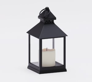 3D lamp candle