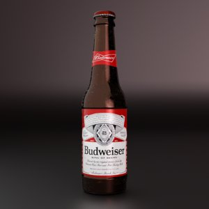 3D model bottle budweiser