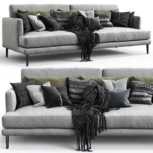 3D bonaldo sofa paraiso model