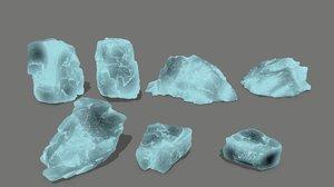 ice rock 3D model