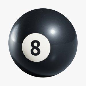 8 ball 3D model